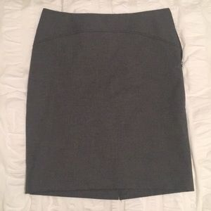 The Limited Gray Pencil Skirt